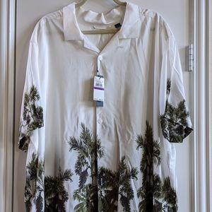 Perry Ellis Men's Casual Dress Shirt 2XLT